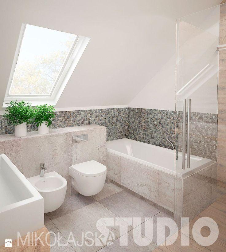 Łazienka w domu jednirodzinnym - Łazienka - Styl Vintage - MIKOŁAJSKAstudio
