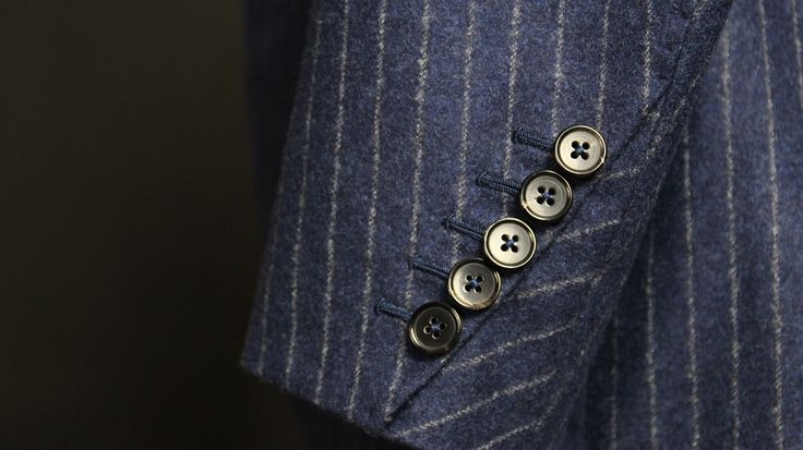 Sleeve detail on our bespoke suit - Made by Sebastian Hoofs