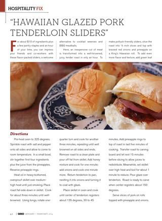 FIX Jan/Feb 2014 | Pork Tenderloins, Sliders and Pork