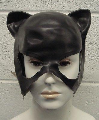 CATWOMAN MASK ADULT SUPERHERO FANCY DRESS COSTUME HALLOWEEN EARS HALF HEAD CAT