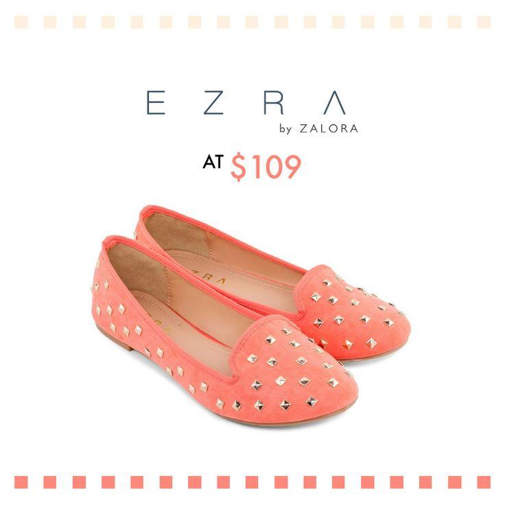 Rock the studs with EZRA suede ballerina loafers, at $109!  EZRA 時尚釘飾麂皮平底鞋, 現售$109!  Shop EZRA suede ballerina > http://zlrahk.com/1kC5gp1 Shop other EZRA shoes here > http://zlrahk.com/1iTCATS
