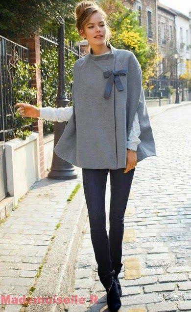 mademoiselle r capa gris lazo Más