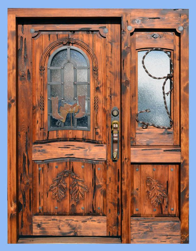 Door Western Style - H J Nick Original - 9861HC >love the carvings!