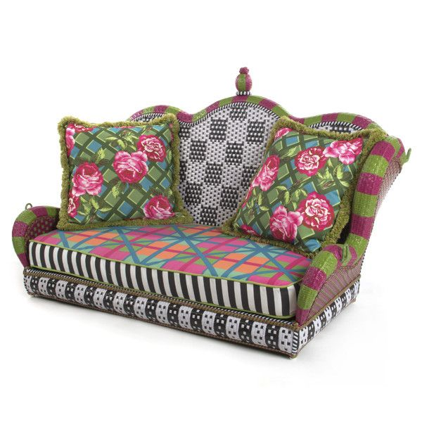 MacKenzie-Childs Greenhouse Outdoor Porch Swing - Ampersand Shops