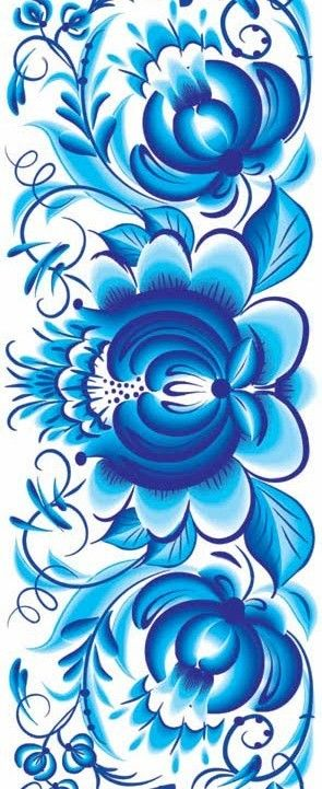 Folk Ghel painting from Russia. Floral pattern. #Russian #folk #art #patterns