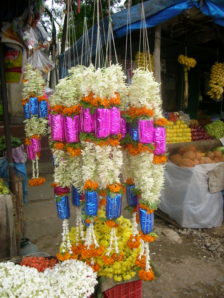 Flower offerings, India (August 2009)