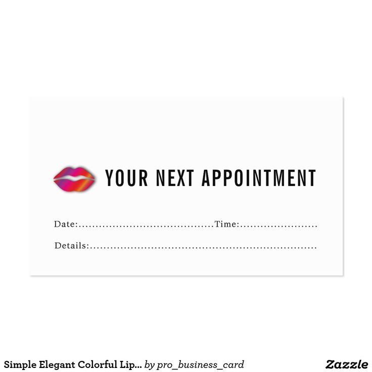 25 best Appointment Cards images on Pinterest | Appointment card ...