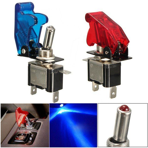 12V 20A Car Auto Cover LED Light Toggle Rocker Switch Control On/Off Car Truck