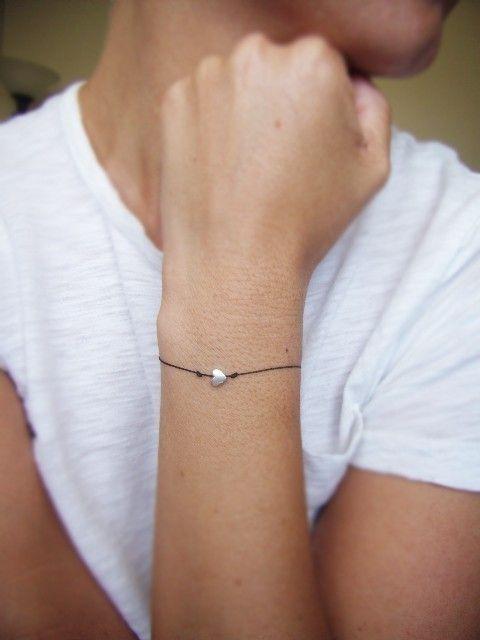 Sterling Silver Heart Wish Bracelet