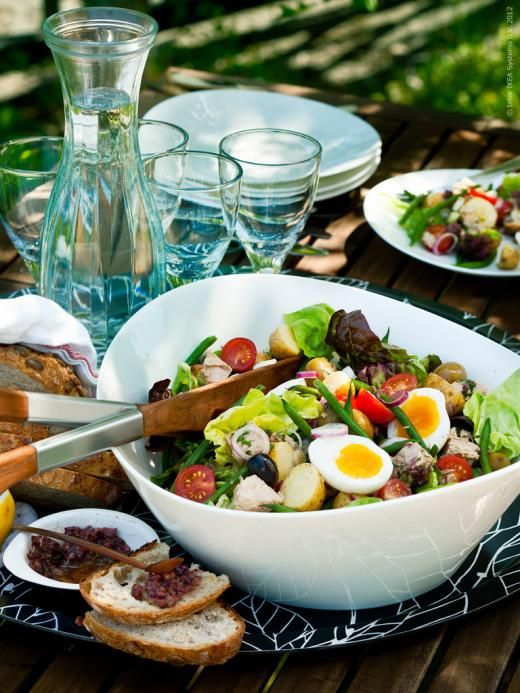 *Salad Nicoise - Just leave out the potato! Use fresh Tuna steaks - grilled, lots of shaved parmesan, steamed green beans, olives & tomato. Make Aioli dressing & serve warm.