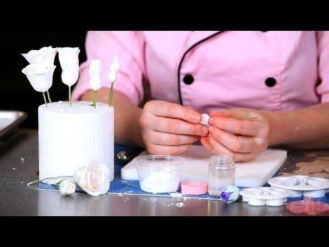 How to Make a Rose Sugar Paste Flower Center   Sugar Flowers