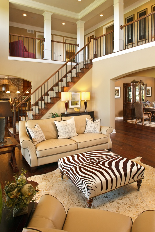 Open staircase and loft homieee pinterest open for Living room upstairs