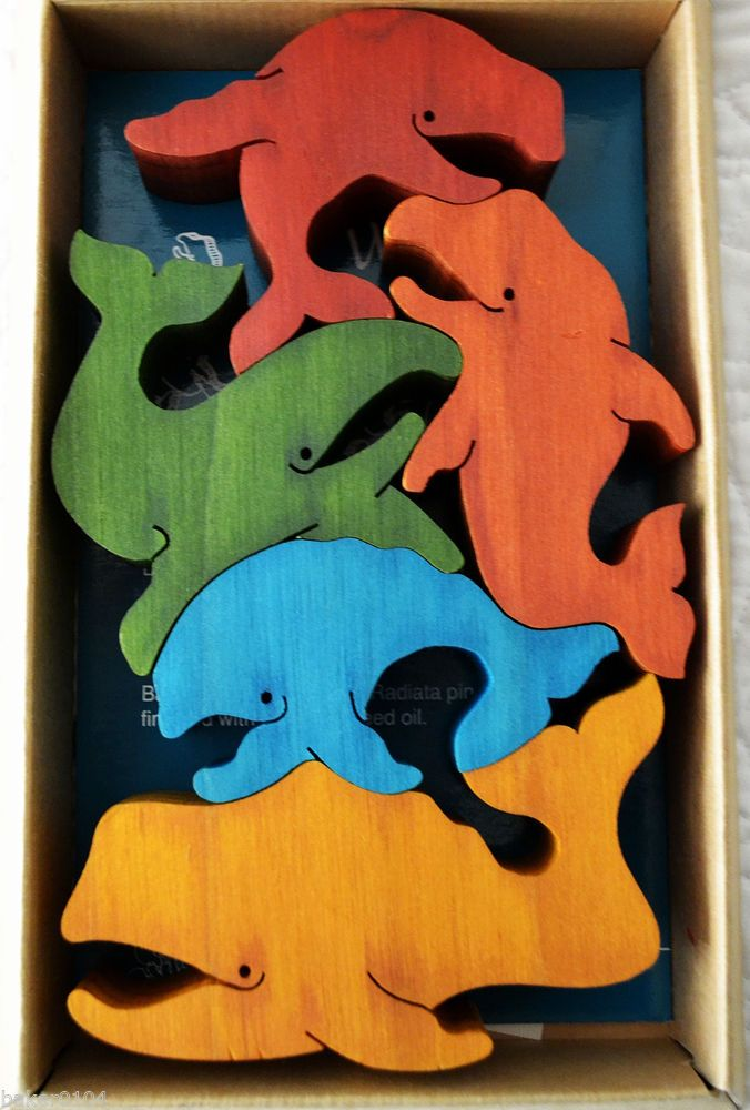 "TARATA~ BALANCING ANIMALS "" WHALE "" 3-D WOODEN PUZZLE FOR ADULTS AND CHILDREN #Tarata"