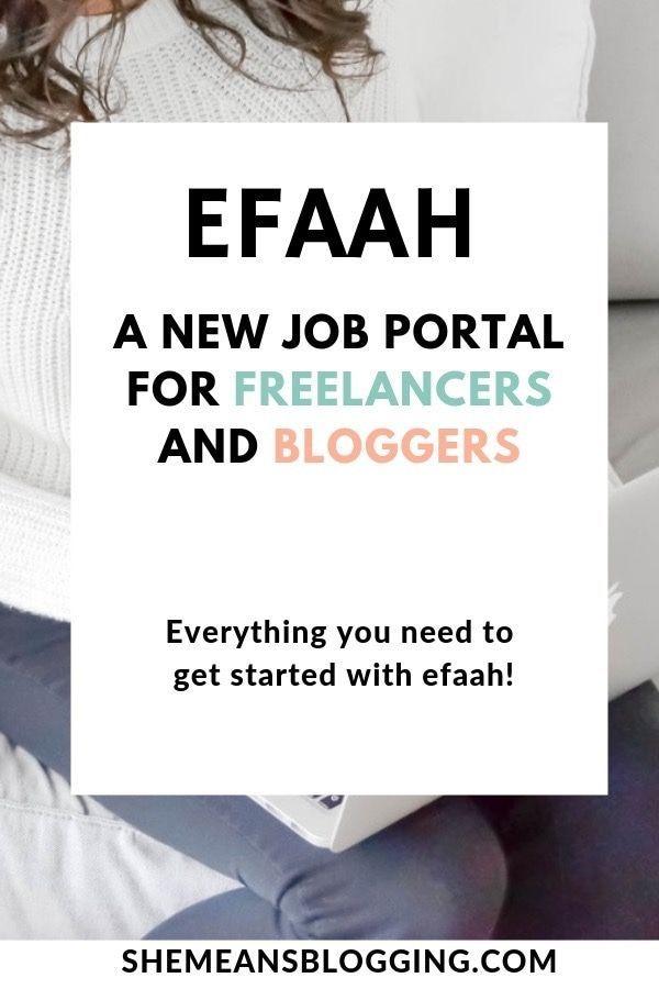 Efaah Job Portal New Job Opportunities For Freelancers Bloggers Job Portal Blogging Jobs Job