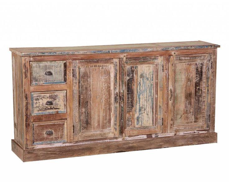 Dressoir 3 deuren met houtsnijwerk
