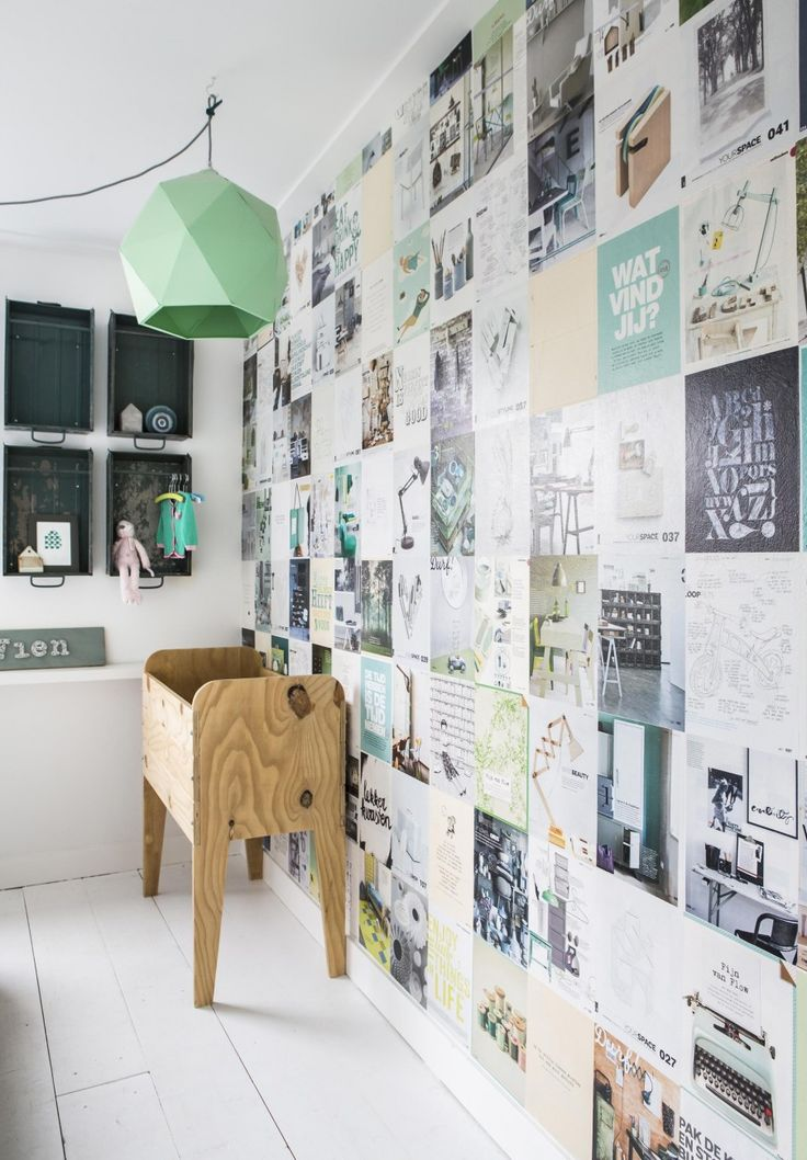 #Wall could also be awesome with pages from storybooks