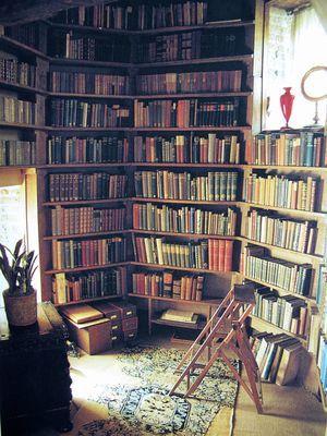 Vita Sackville-West's tower library at Sissinghurst, a dreamy place to read with a view to die for.