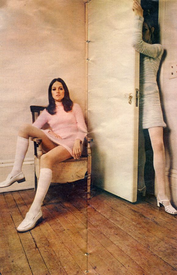 Knockout Knits Roger Stowell Petticoat March 29th 1969 Angora dress from Mary Farrin Boutique 67 South Molton Street Shoes from Russell and ...