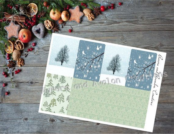 Winter Tree Weekly kit for Happy Planner and Erin Condren...From The Avalon Winter Line