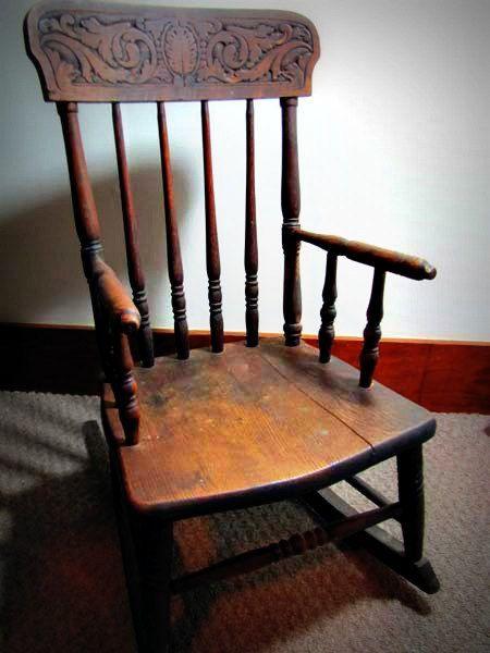 Antique Childrenu0027s Rocking Chair