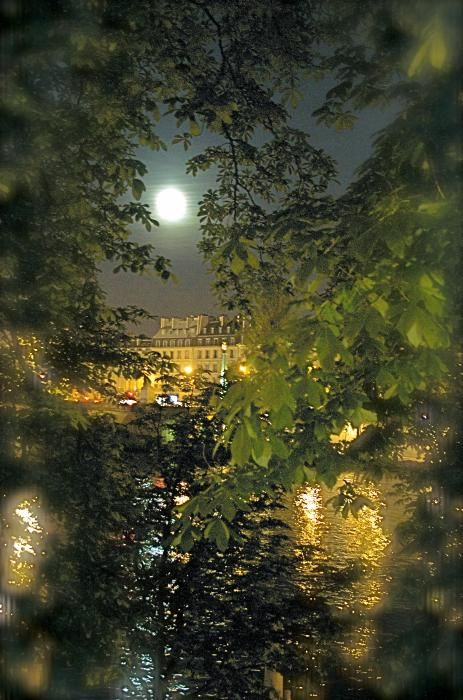 Moon over Paris on a hot summer night   by Louise Fahy