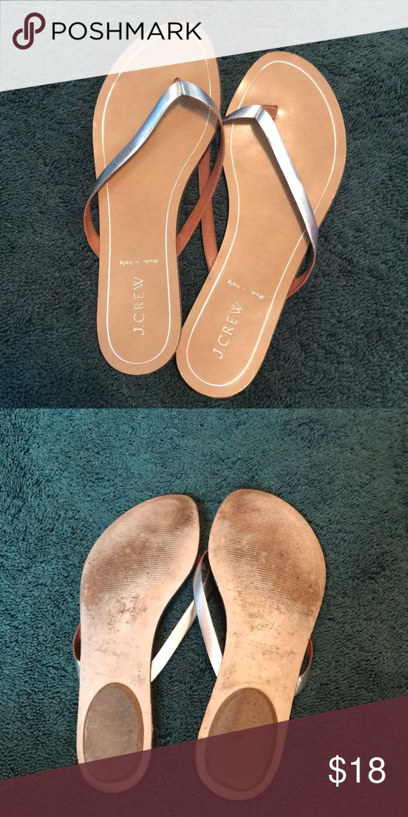 JCrew dressy flip flops Only worn a few times, bottom shows slight wear but doesn't affect the quality J. Crew Shoes