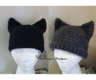Black Cat Crochet Hat Pattern Free : 25+ best ideas about Crochet cat hats on Pinterest Cat ...