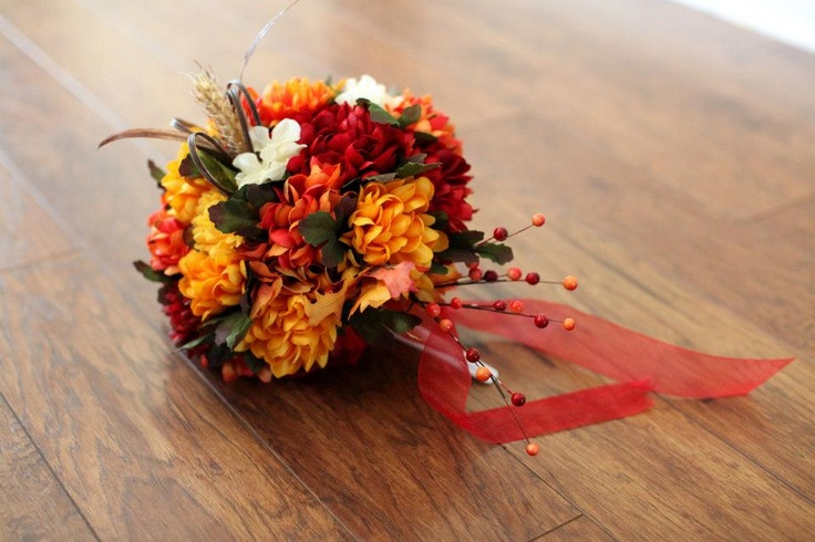 Fall wedding - DIY fake flower bouquet                                                                                                                                                     More