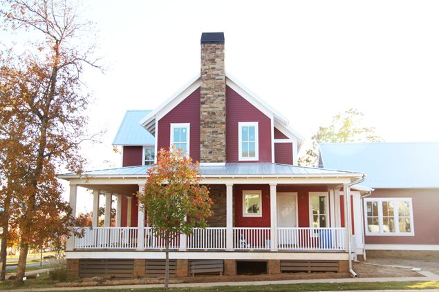 Shot by @psstudio Gorgeous barn red new American farmhouse. #carltonlanding #newurbanism www.pencilshavingsstudio.com