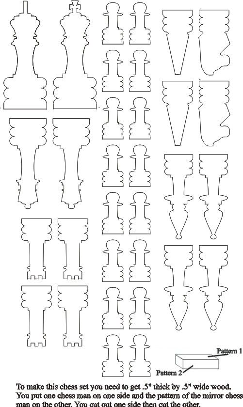 Scroll Saw Patterns Hard Patterns Chess Set