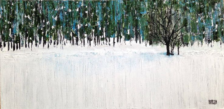 Fallow Field, Acrylic on canvas, 12 x 24 inches