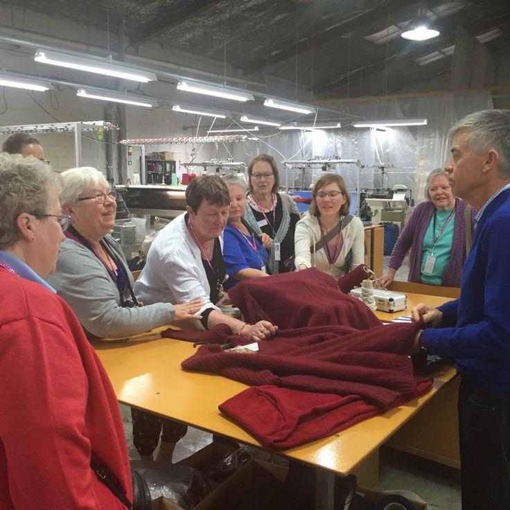 Girls at Weft Knitting Factory - Christchurch
