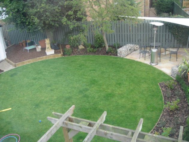 Circular Garden Designs Simple Circular Garden Design With Five