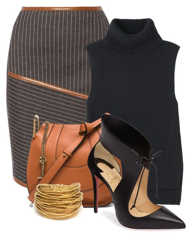 Untitled #1003 by mkomorowski on Polyvore featuring polyvore, fashion, style, Uniqlo, Jonathan Simkhai, Christian Louboutin, Chloé, Black & Sigi and clothing