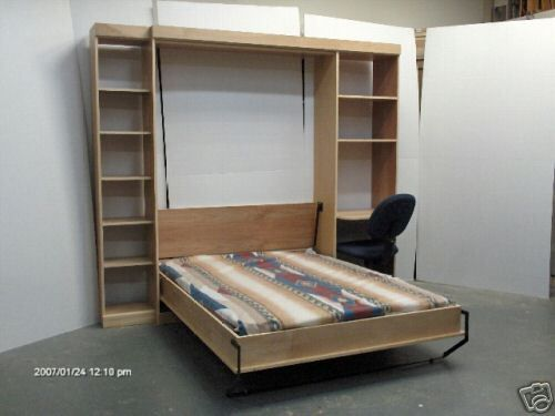 Murphy Panel Bed Full with Desk and Side Cabinet Do-It-Yourself kit