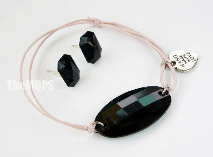 Futuro - jewellery set / zestaw biżuterii bransoletka i kolczyki