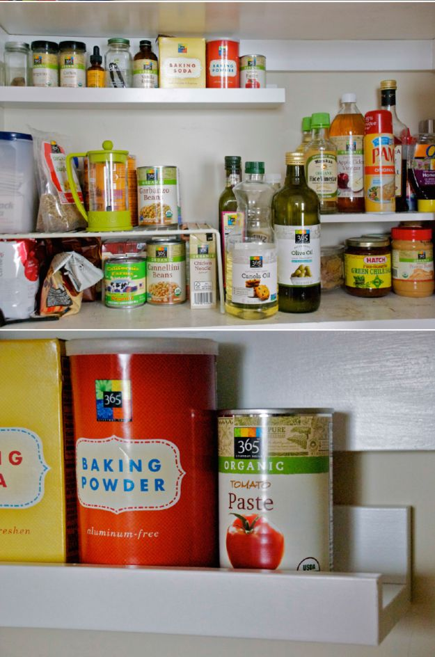 Use a thin shelf to maximize pantry storage. | 42 Storage Ideas That Will Organize Your Entire House