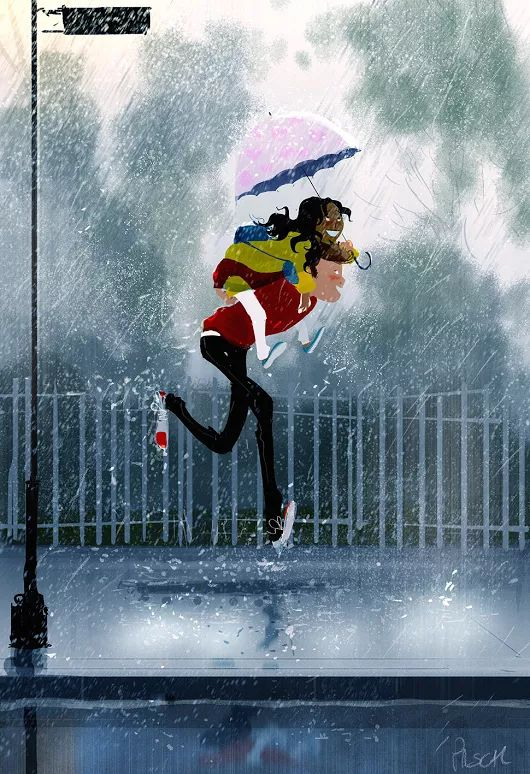 Another one of those rainy mornings. #pascalcampion