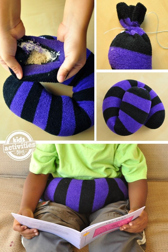 How to make a weighted lap band to help fidgety kids calm down, Repinned by SOS Inc. Resources http://pinterest.com/sostherapy.