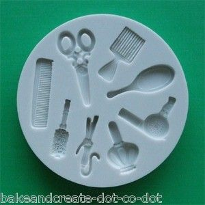 Hairdressing/Barber Silicone Mould Mold 4 Cake Decorating Sugarcraft ... I need to find this