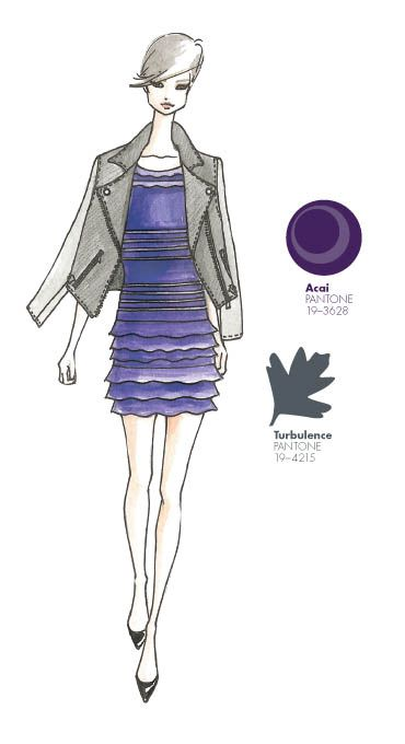 My favorite Pantone colors!  Sachin + Babi - PANTONE Color Acai - Pantone Fashion Color Report, Fall 2013