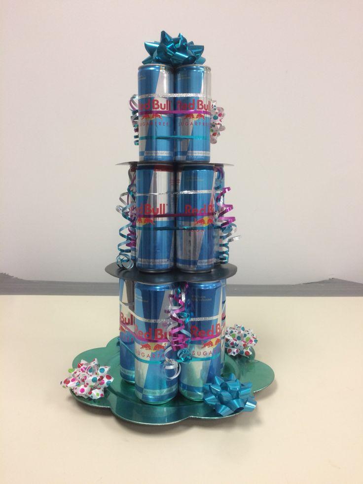 Red Bull birthday cake