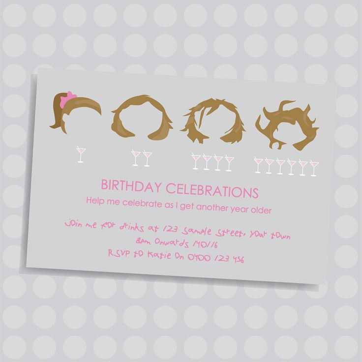 13 best ADULT BIRTHDAY INVITES images on Pinterest | Birthday ...