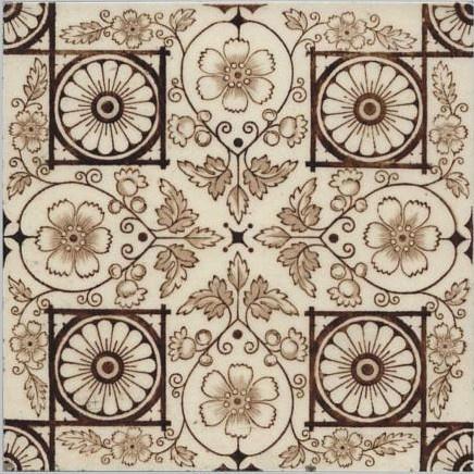 Late Victorian - Majolica - !890 to 1910 - Ceramic Tile