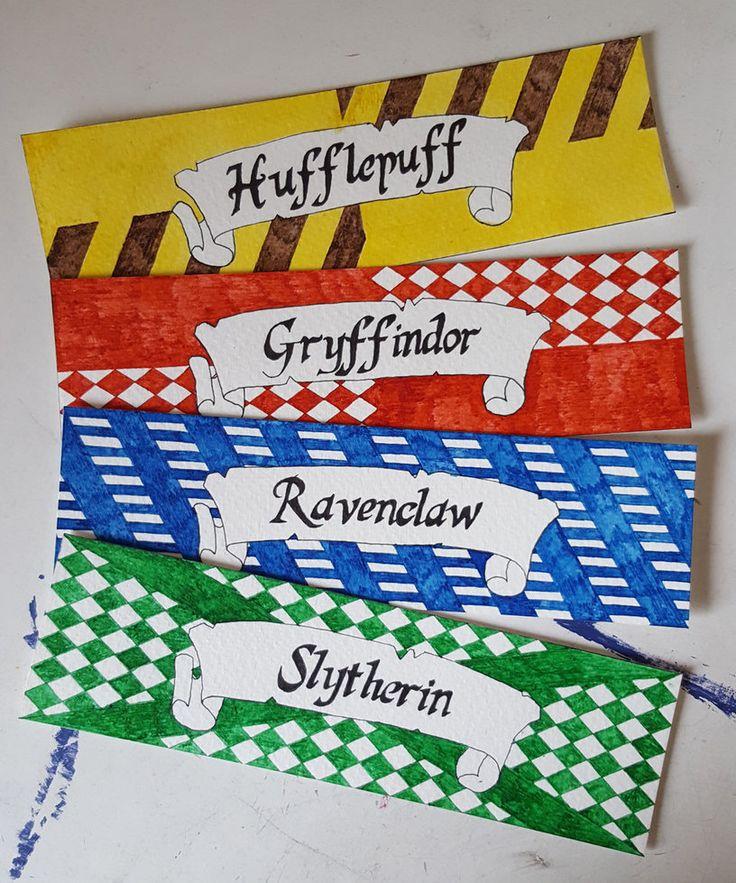 Hogwarts House bookmarks (Harry Potter) by starksandlannisters