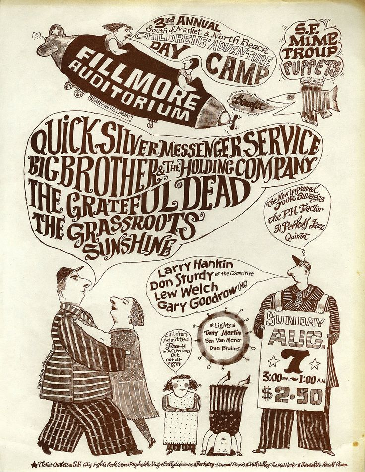 Quicksilver Messenger Service, Big Brother & the Holding Company, Grateful Dead, Grassroots
