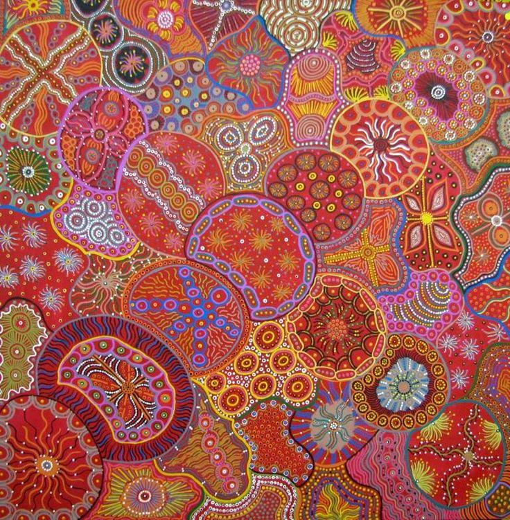 Alec_Baker_-_Kalaya_Tjukurrpa_australian aboriginal dotpainting