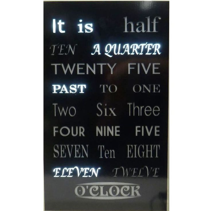 This is a beautiful 30cm wide by 50cm tall clock designed to follow the beautiful multi-font poster memes that are on the internet.      Be creative.