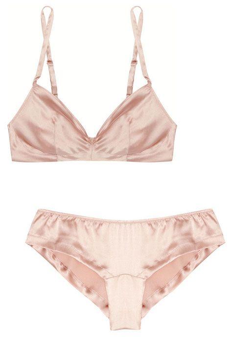 Rituel by Carine Gilson stretch-silk bra, $205; shop now: net-a-porter.com  Rituel by Carine Gilson silk-satin briefs, $140; shop now: net-a-porter.com. so pretty and simple.