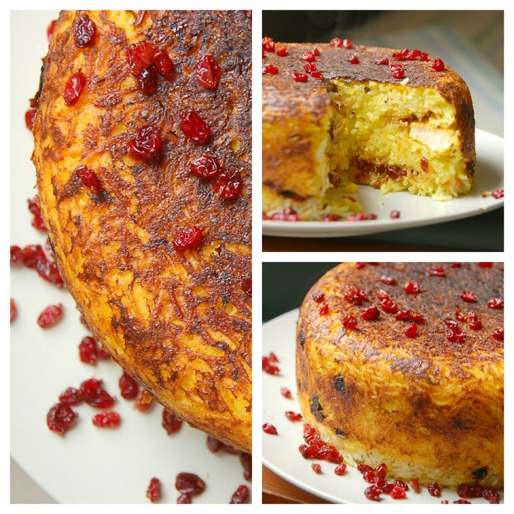 No-Bake Tah-chin e Morgh (Persian Upside Down Layered Saffron Rice & Chicken Casserole)